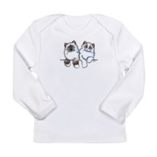 Ragdolls Pair Off-Leash Art™ Long Sleeve T-Shirt