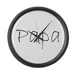 papa Large Wall Clock