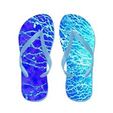 """Mud patterns in aqua"" Flip Flops"