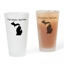 Custom Michigan Silhouette Drinking Glass