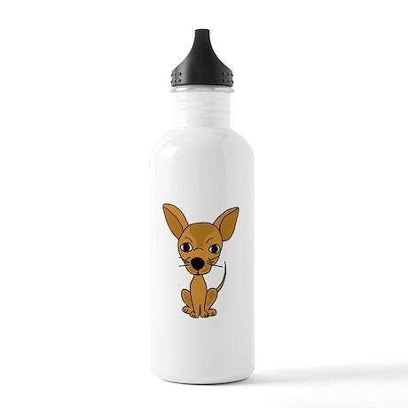 Cute Fawn Chihuahua Water Bottle