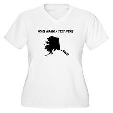 Custom Alaska Silhouette Plus Size T-Shirt