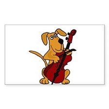 Dog Playing Cello Decal