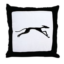 Sleek Greyhound Art Throw Pillow