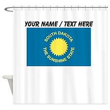 Custom South Dakota State Flag Shower Curtain