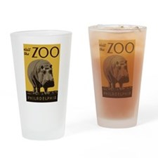 Hippo Zoo Drinking Glass