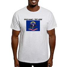 Custom North Dakota State Flag T-Shirt