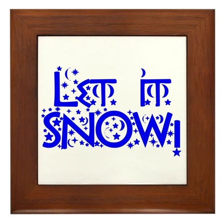 Let it Snow! Framed Tile