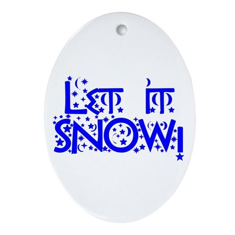 Let it Snow! Oval Ornament