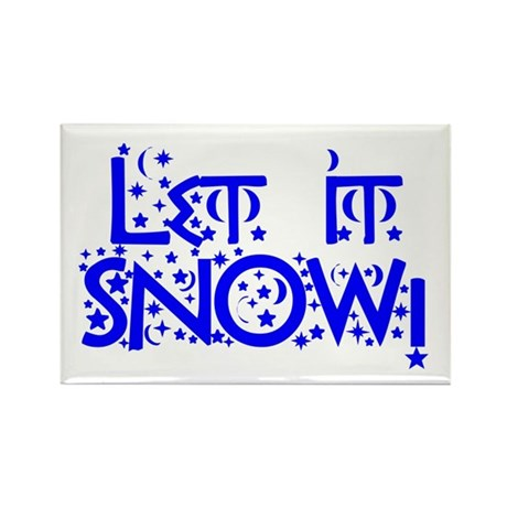 Let it Snow! Rectangle Magnet (100 pack)