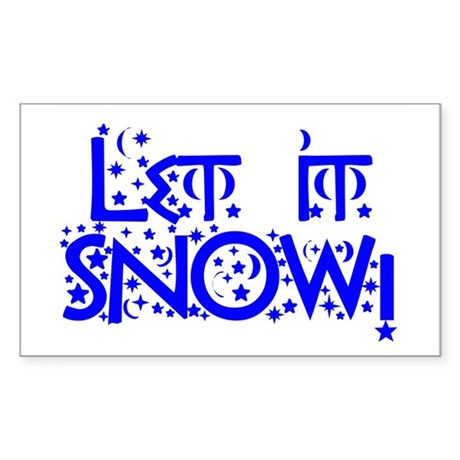 Let it Snow! Rectangle Sticker