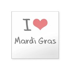 I Love Mardi Gras Sticker
