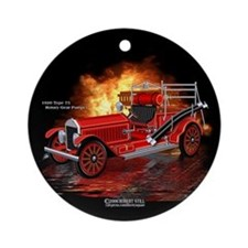 FireTruck 1920 Type 75 Pumper Ornament (Round)