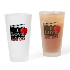 I Love Auditions Drinking Glass