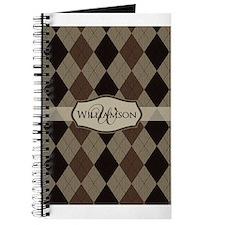 Cute Argyle monogram Journal