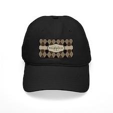 Brown Argyle Monogram Name Baseball Hat