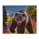 Grizzly Bear Territory Throw Blanket