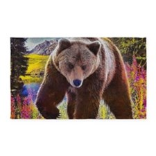 Grizzly Bear Territory 3'x5' Area Rug