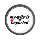 My Wife is Imported (Canada) Wall Clock