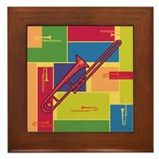 Trombone Colorblocks Framed Tile