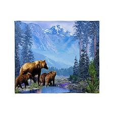 Mountain Grizzly Throw Blanket
