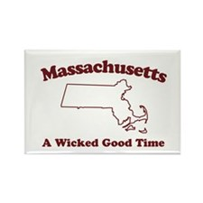 Massachusetts Rectangle Magnet