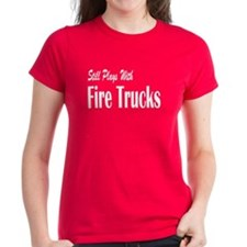 Plays with Fire Trucks Tee
