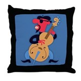 Bass Beat Throw Pillow