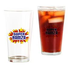 Hamza the Super Hero Drinking Glass