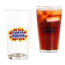 Harper the Super Hero Drinking Glass