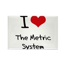 I Love The Metric System Rectangle Magnet