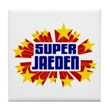 Jaeden the Super Hero Tile Coaster