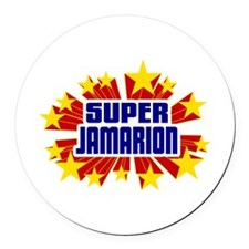 Jamarion the Super Hero Round Car Magnet