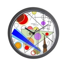 Funky Abstract 1 Wall Clock