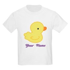 Personalized Yellow Duck T-Shirt