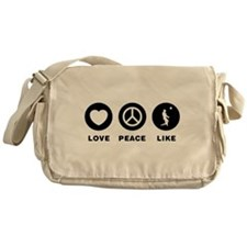 Beach Volleyball Messenger Bag