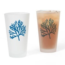 blue sea fan coral drawing Drinking Glass