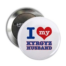 "I love my Kyrgyz husband 2.25"" Button"
