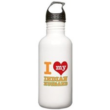 I love my Indian husband Water Bottle