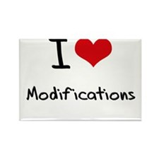 I Love Modifications Rectangle Magnet