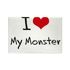 I Love My Monster Rectangle Magnet
