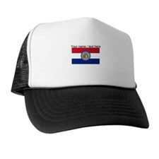 Custom Missouri State Flag Trucker Hat