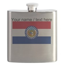Custom Missouri State Flag Flask