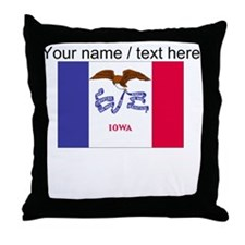 Custom Iowa State Flag Throw Pillow