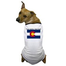 Custom Colorado State Flag Dog T-Shirt
