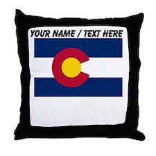 Custom Colorado State Flag Throw Pillow