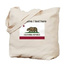 Custom California State Flag Tote Bag