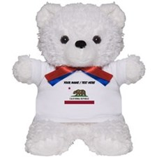 Custom California State Flag Teddy Bear