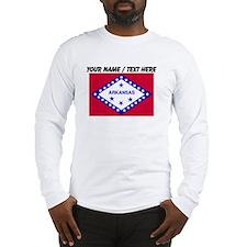 Custom Arkansas State Flag Long Sleeve T-Shirt