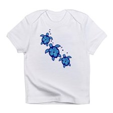 Blue Hibiscus Honu Turtles Infant T-Shirt
